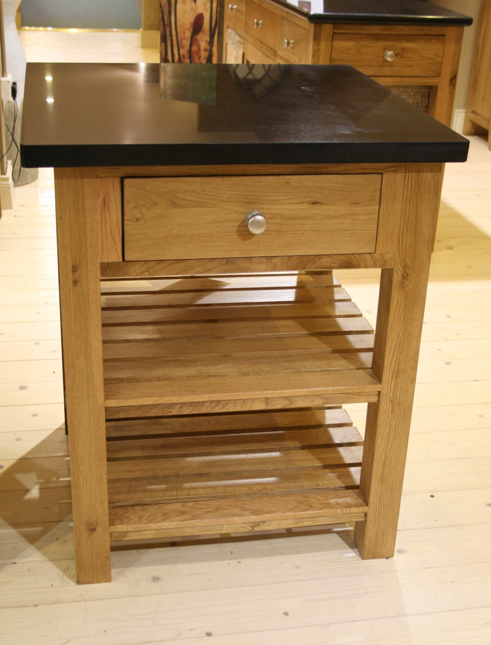 SQUARE ISLAND 1 DRAWER 2 SHELVES    w76 x d76 x h92 cm    €681 ( 40% Off Now €409 )  Product Code: 112099