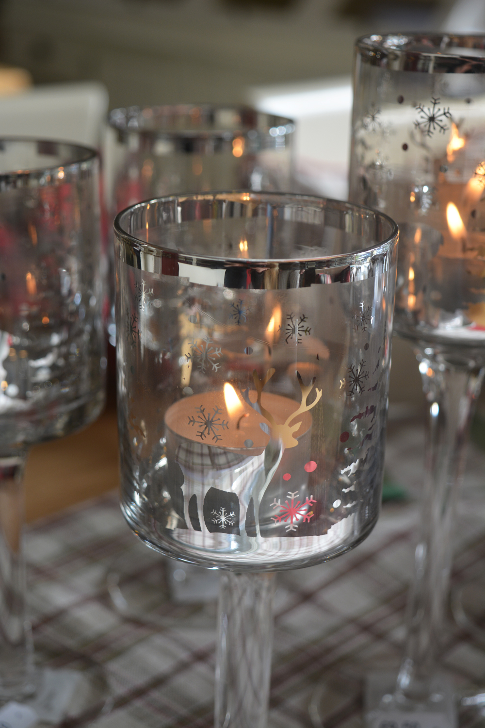 Glass Candle Holder  Large €9.50  Medium €8.50