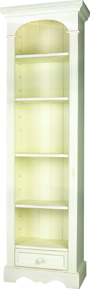 BOOKCASE WITH 1 DRAWER  w 59 x d 32 x h 190 cm  € 581( PRICE DROP NOW € 492 )  JANUARY SALE - NOW   €393.60   Product Code: TL-1109