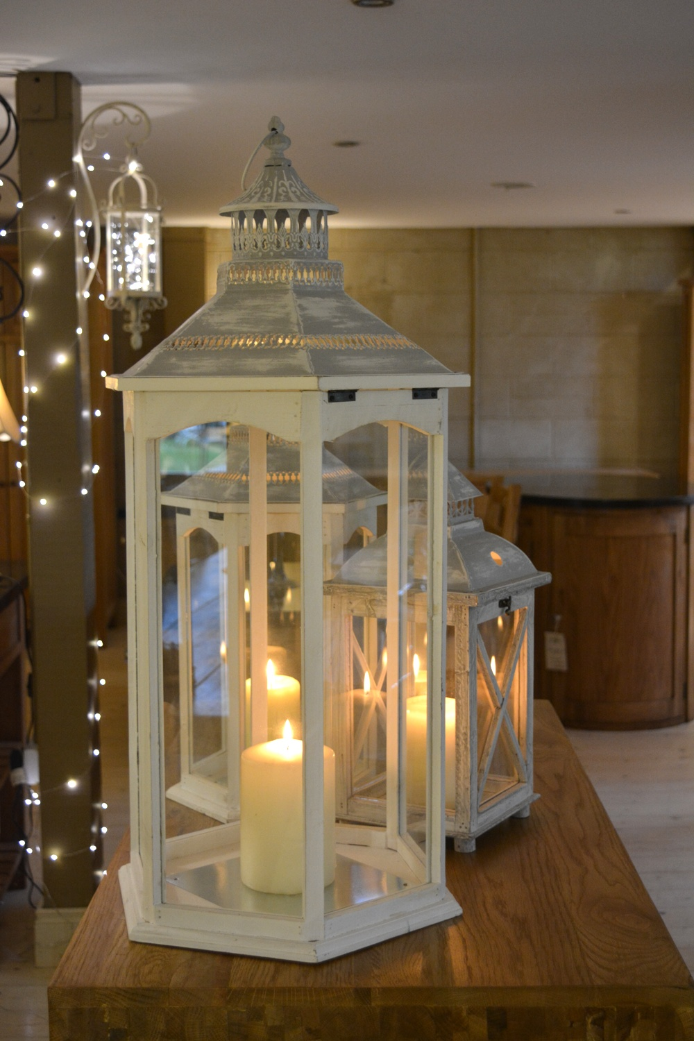 Candle Lanterns  Xtra Large €79.00  Large €59.00  Medium €55.00