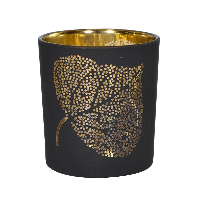 Black/Gold Leaf Tea Light Holder  €6.00  Product Code: CHA1-XLS-289