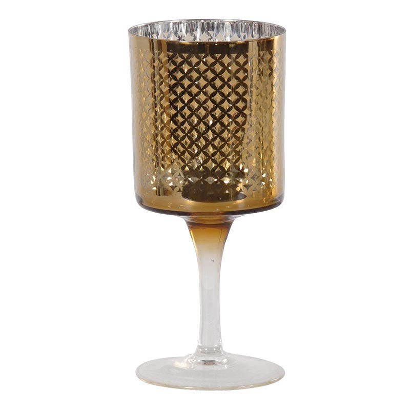 Patterned Gold Candleholder  €12.00  Product Code: CHA1-NKH-203
