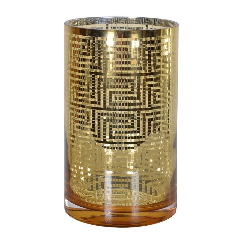 Gold Aztec Pattern T Light Holder  €20.00  Product Code: CHA1-XLS-303