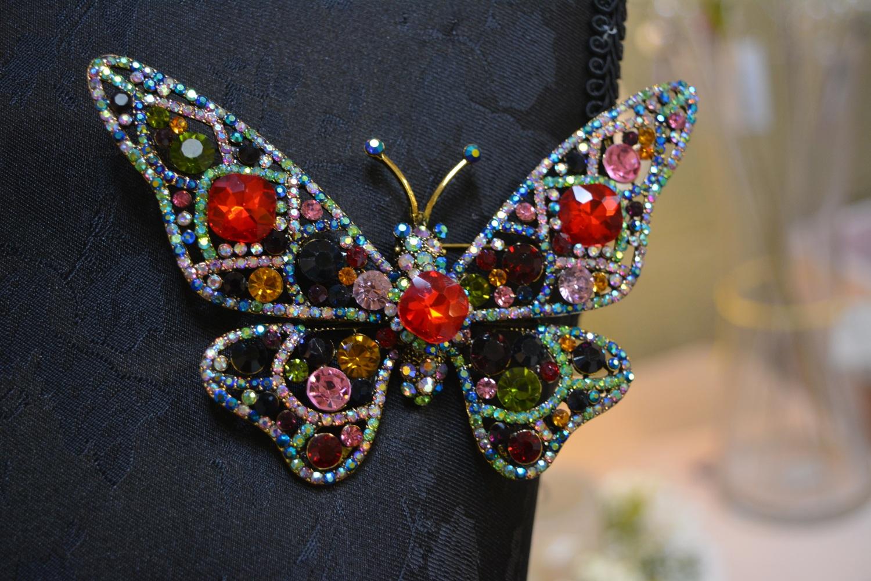 Embellished Butterfly Broach~€32.00