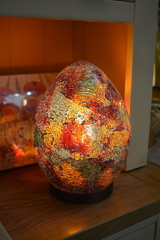 Mosaic Egg Shaped Lamp €49
