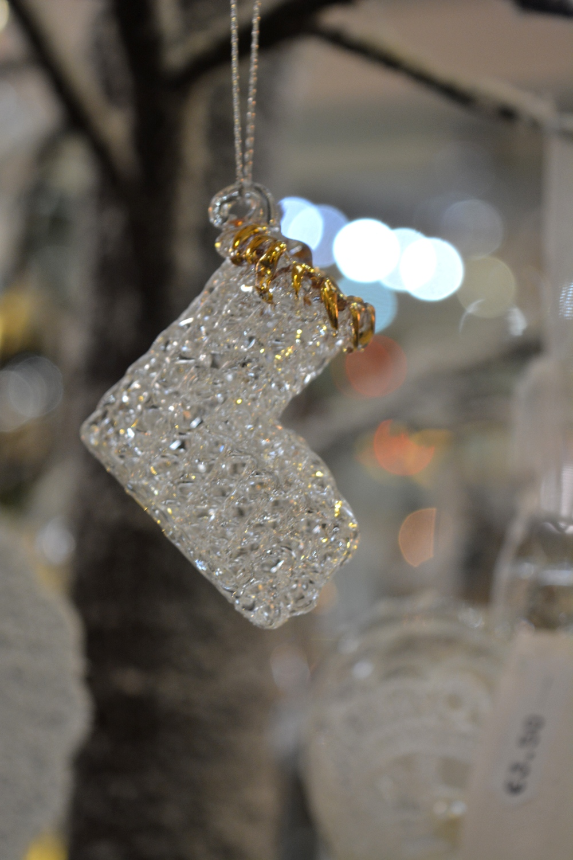 Glass Santa Boot - €2.40