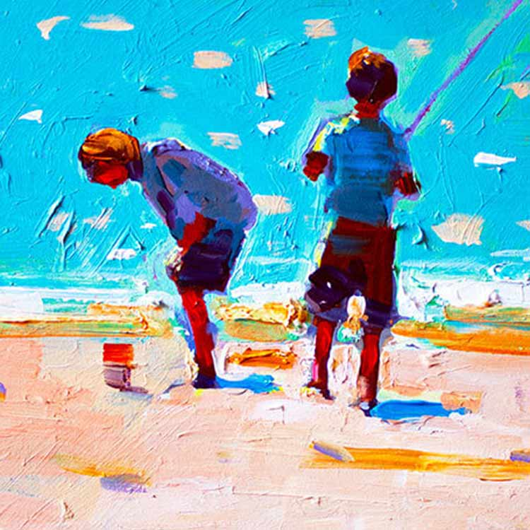 OLD FISHING FRIENDS, PRINT BY PAUL MALONEY, €79