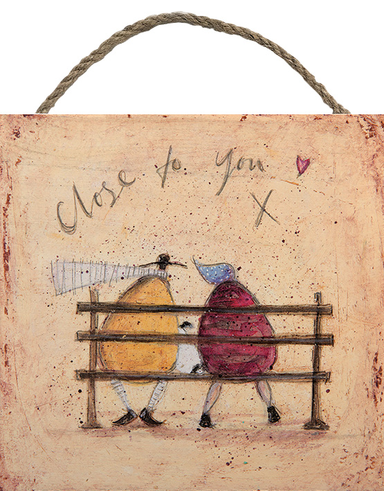CLOSE TO YOU WOODEN BLOCK PRINT BY SAM TOFT 20CM X 20CM , €15.