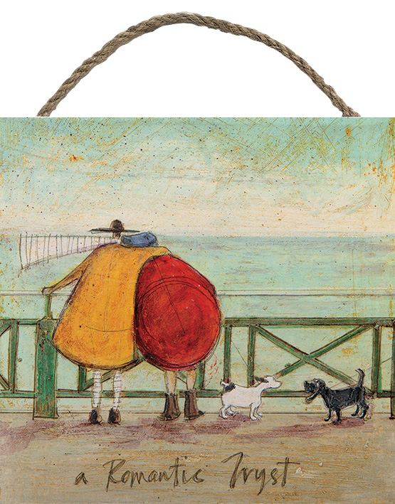 A ROMANTIC TRYST WOODEN BLOCK PRINT BY SAM TOFT 20CM X 20CM , €15.