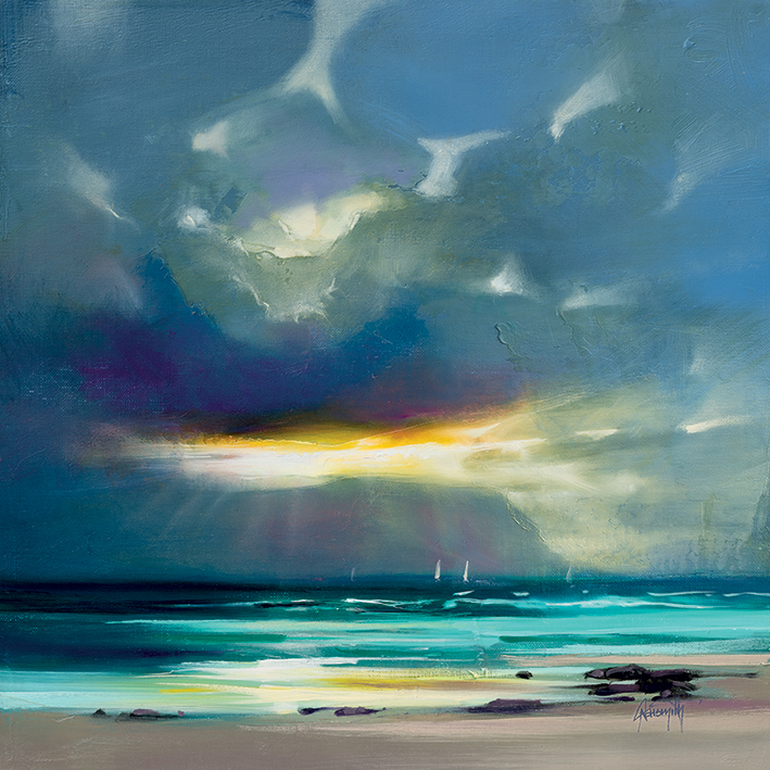 WEST COAST BLUES, PRINT ON CANVAS, BY SCOTT NAISMITH, 85CM X 85CM, €75.