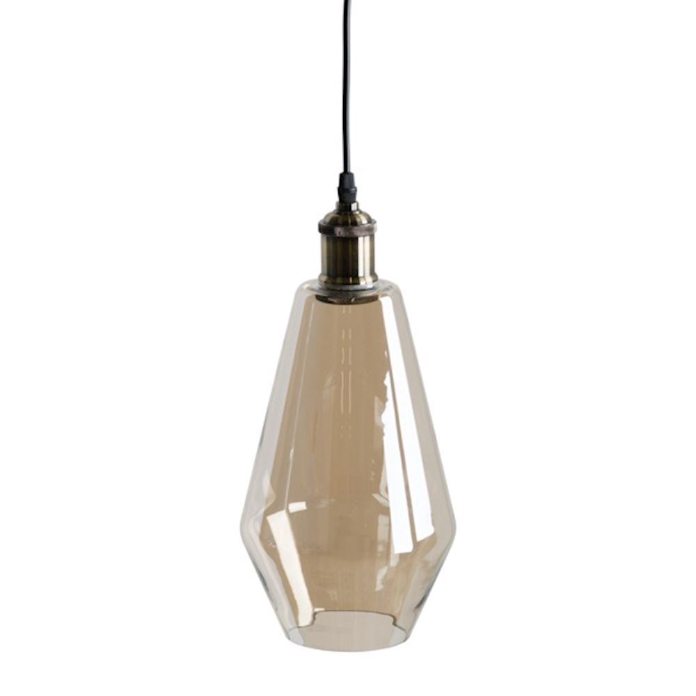 SMOKED GLASS PENDANT TEARDROP LIGHT, €74, CODE: WJ-H19685