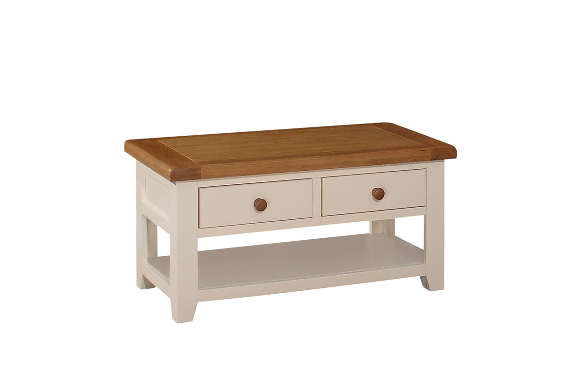 COFFEE TABLE, TWO DRAWER, €420.00, CODE:JT036
