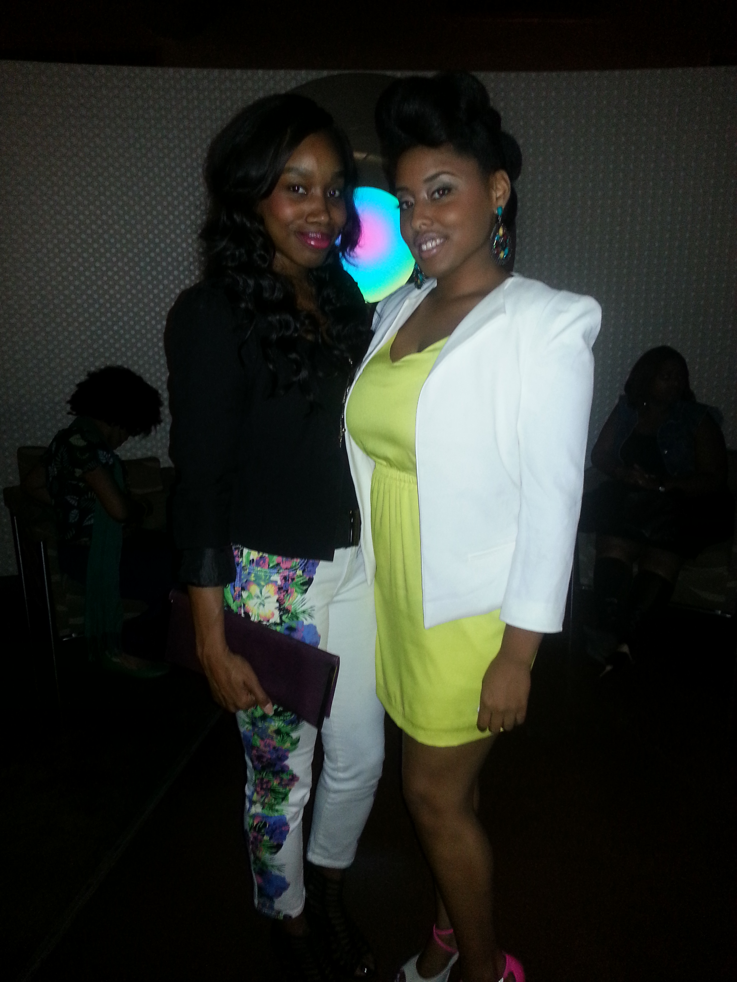Tarin (of Naturally Me Media) and I @ The Basic Hair Launch Party