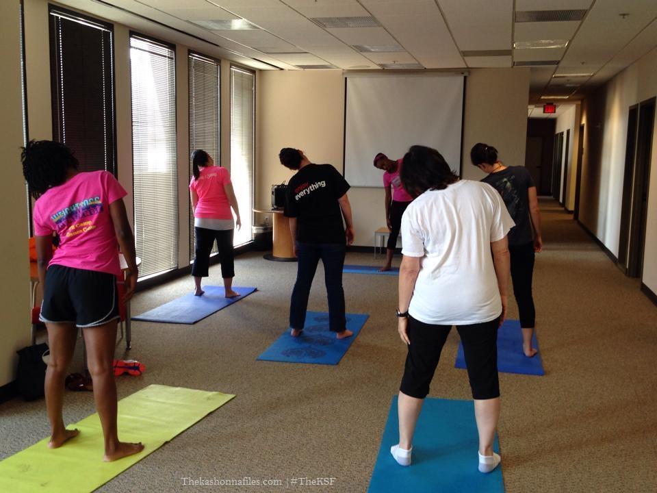 yoga, workplace wellness, the kashonna files