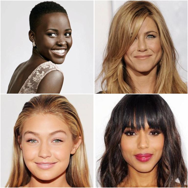 Images taken from... http://www.milliontalks.com/topic/337-celebrities-beauty-secrets/ ;http://www.harpersbazaar.com/beauty/makeup/advice/a3246/lupita-nyongo-beauty-secrets-0914/ ;http://www.byrdie.com/get-gigi-hadids-glow?ps=tag&tag=gigi-hadid ;http://www.allure.com/hair-ideas/2014/best-celebrity-bangs#slide=8