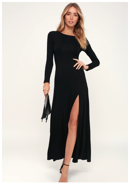 Lulu's- Long sleeve maxi dress