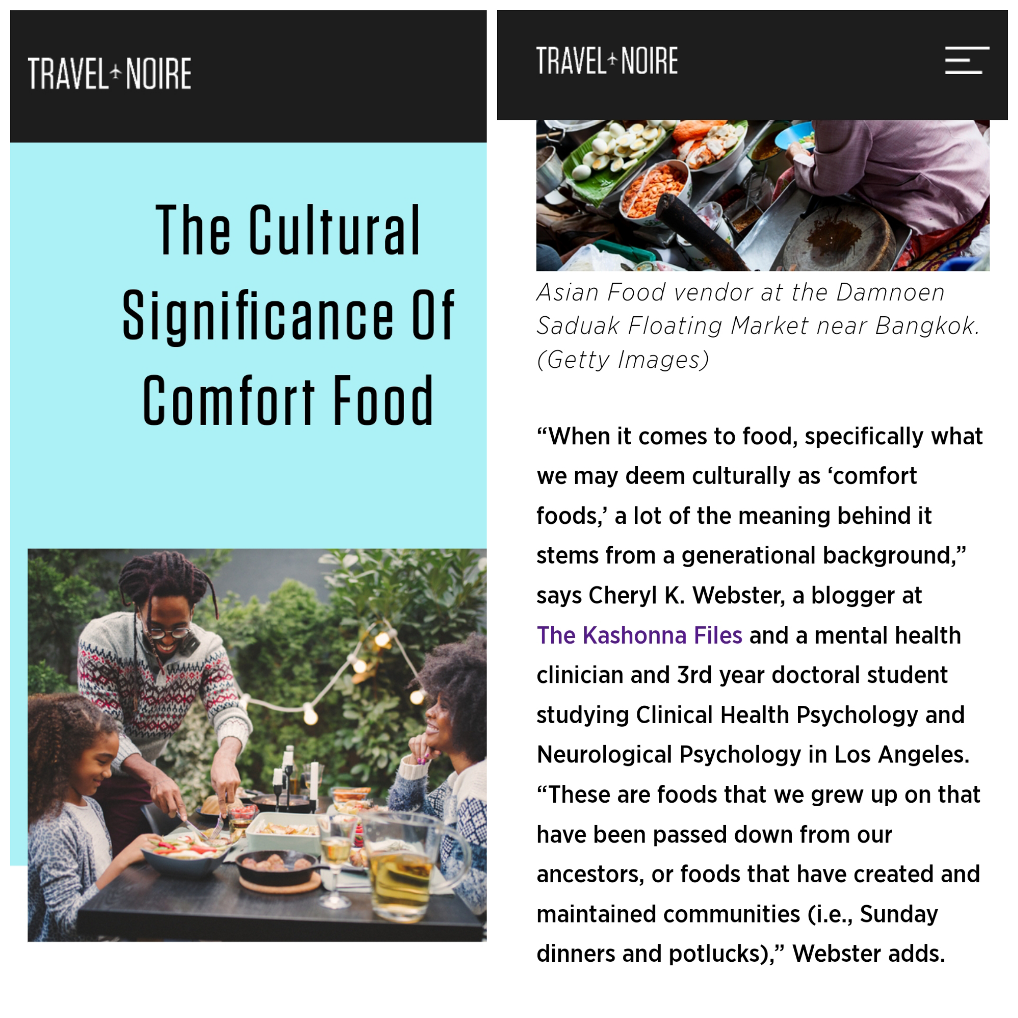 TRAVEL NOIRE MENTAL HEALTH FEATURE |  www.travelnoire.com/culturalsignificanceoffood