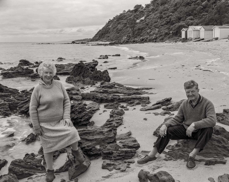 My parents,    Mary and Fred Guy   , Mornington Beach, Australia.