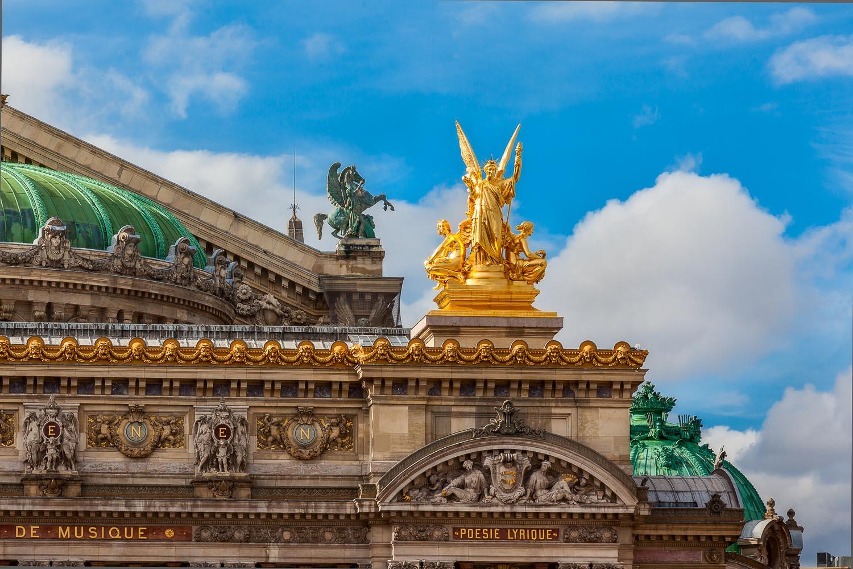 Angel and Blue Sky, Académie de Poésie et de Musique in Paris, France