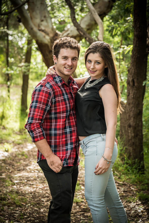 Attractive Couple on Sunny Bush Trail