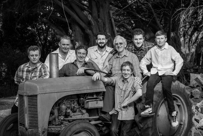 Men on Tractor - Three Generations