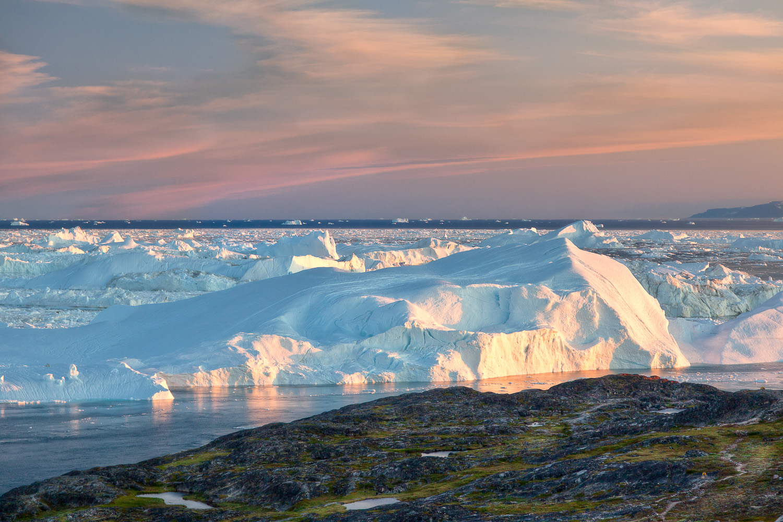 Evening Glow, Ilulissat Icefjord, Greenland