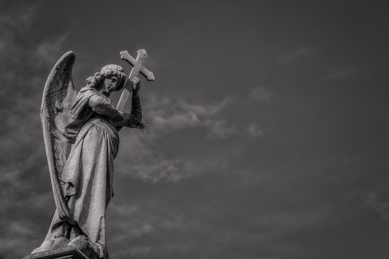 Angel and Cross, La Recoleta Cemetery, Buenos Aires, Argentina