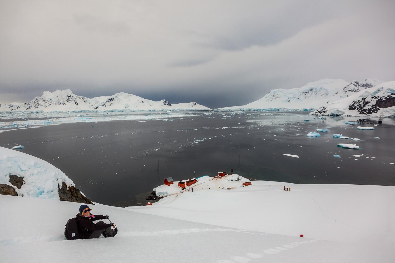 Heidi, Heading Down, Antarctic Peninsula