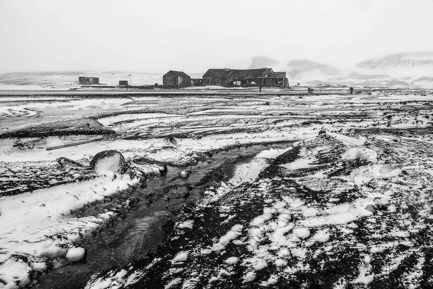 Ruins of a building at  Port Foster  on  Deception Island, Antarctica