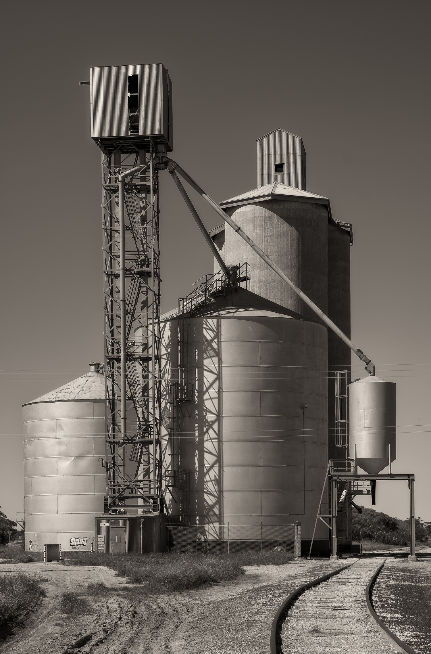 Silos  are the closest thing to a skyscraper you'll see in rural hamlets like  Cowangie  in the Sunraysia region of north west Victoria, Australia.