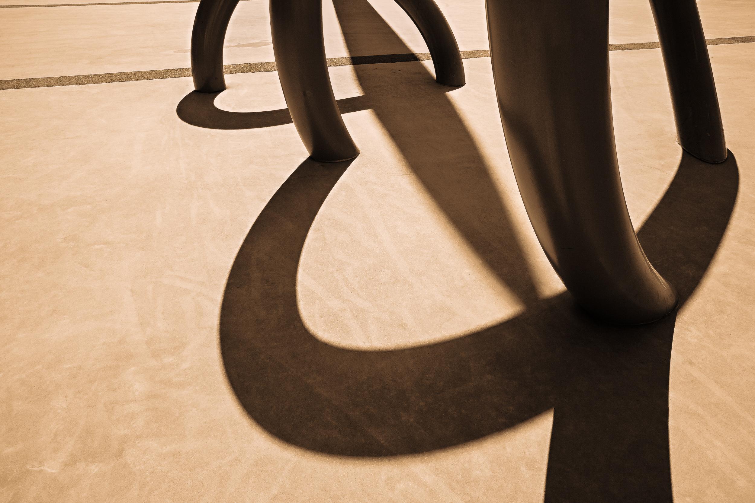 Interesting sculptural elements become studies in composition at  Etihad Stadium in  Melbourne ,  Australia