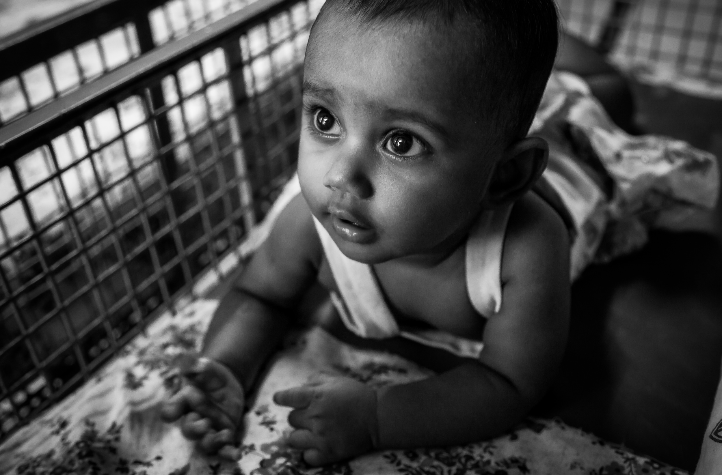 The    face of innocence    on a beautiful baby, just woken from sleep, in    Chennai, India   .