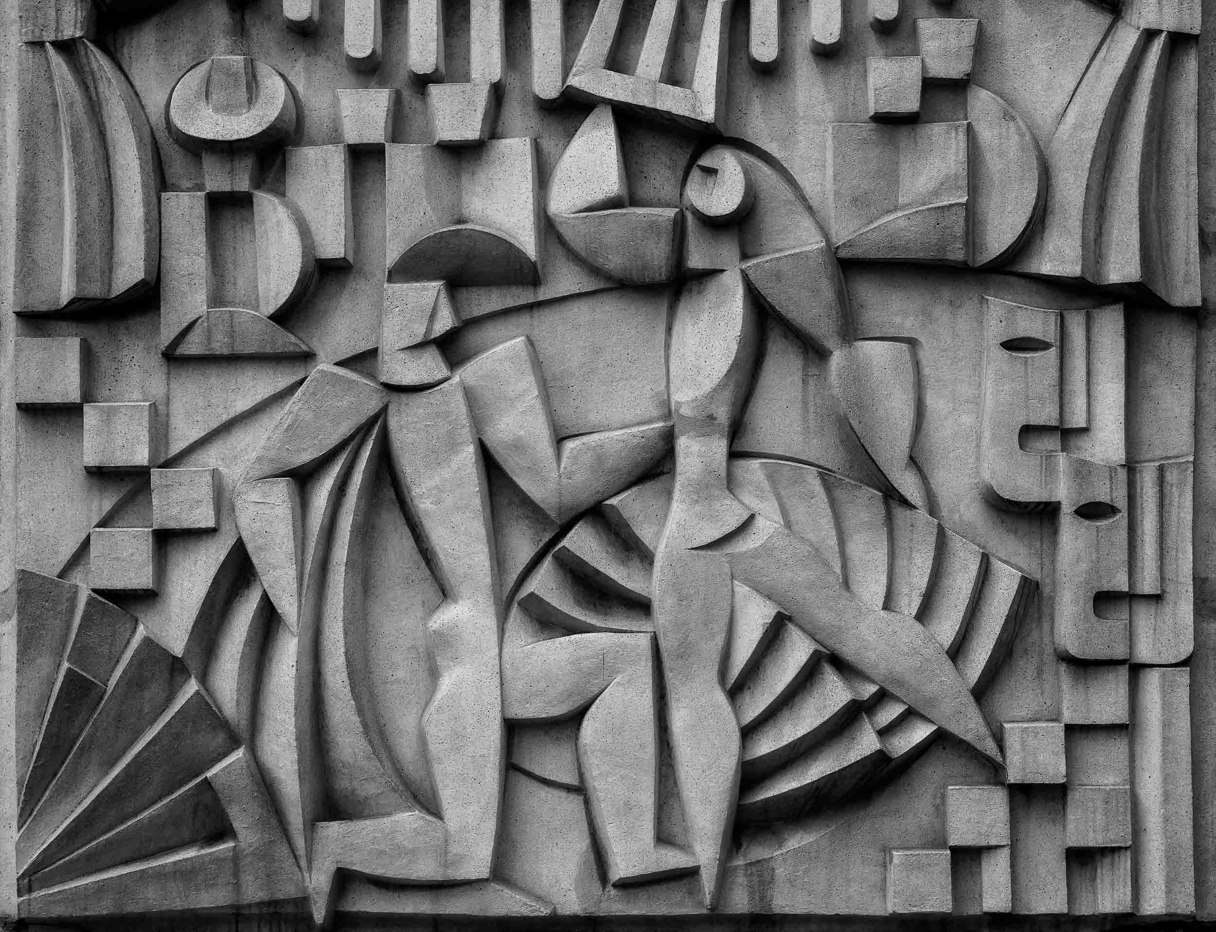 A lovely, figurative    detail in stone    in the Mitte precinct of    Berlin, Germany   .