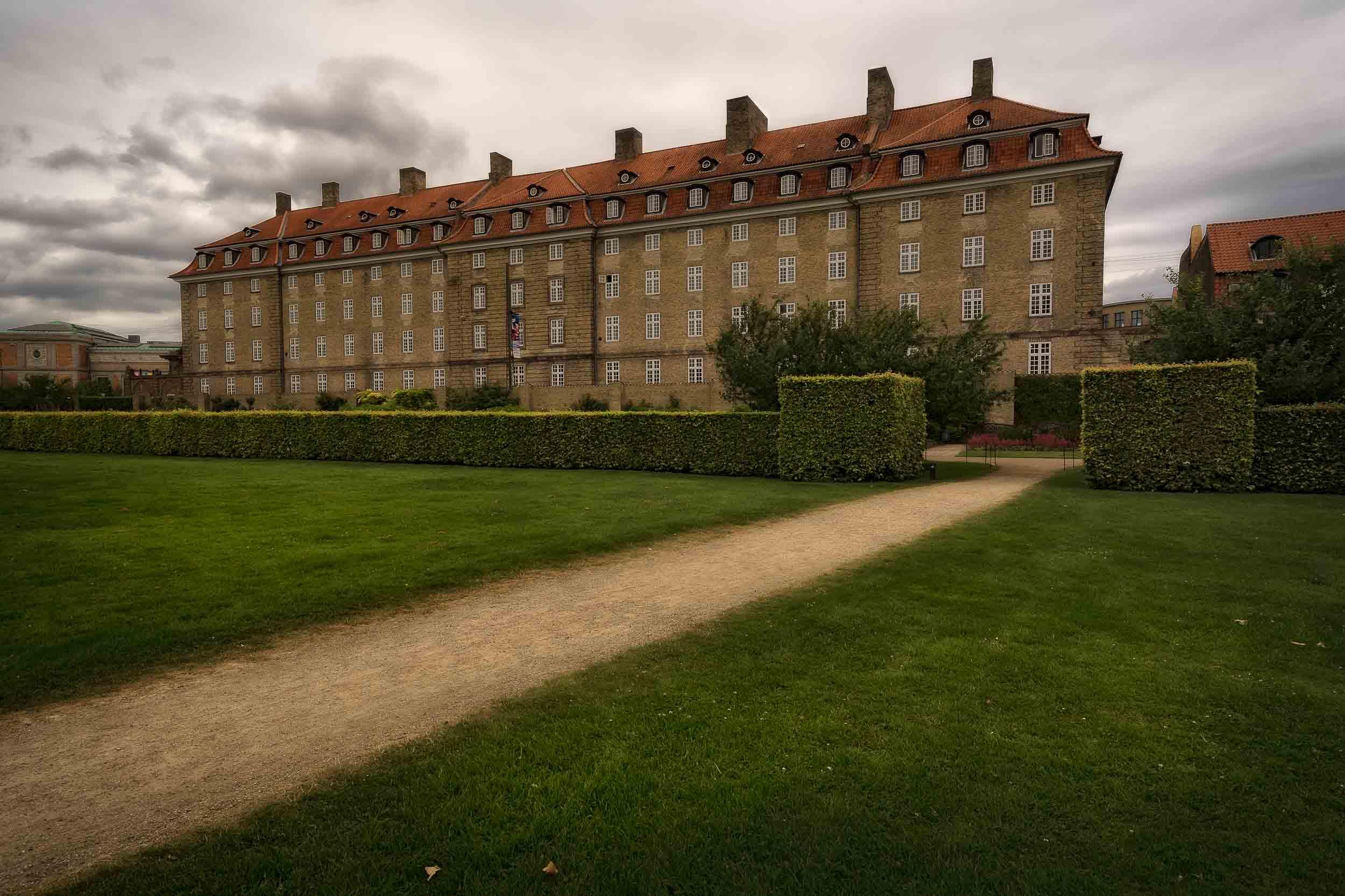 A grand building on the edge of Kings Garden in Copenhagen, Denmark.