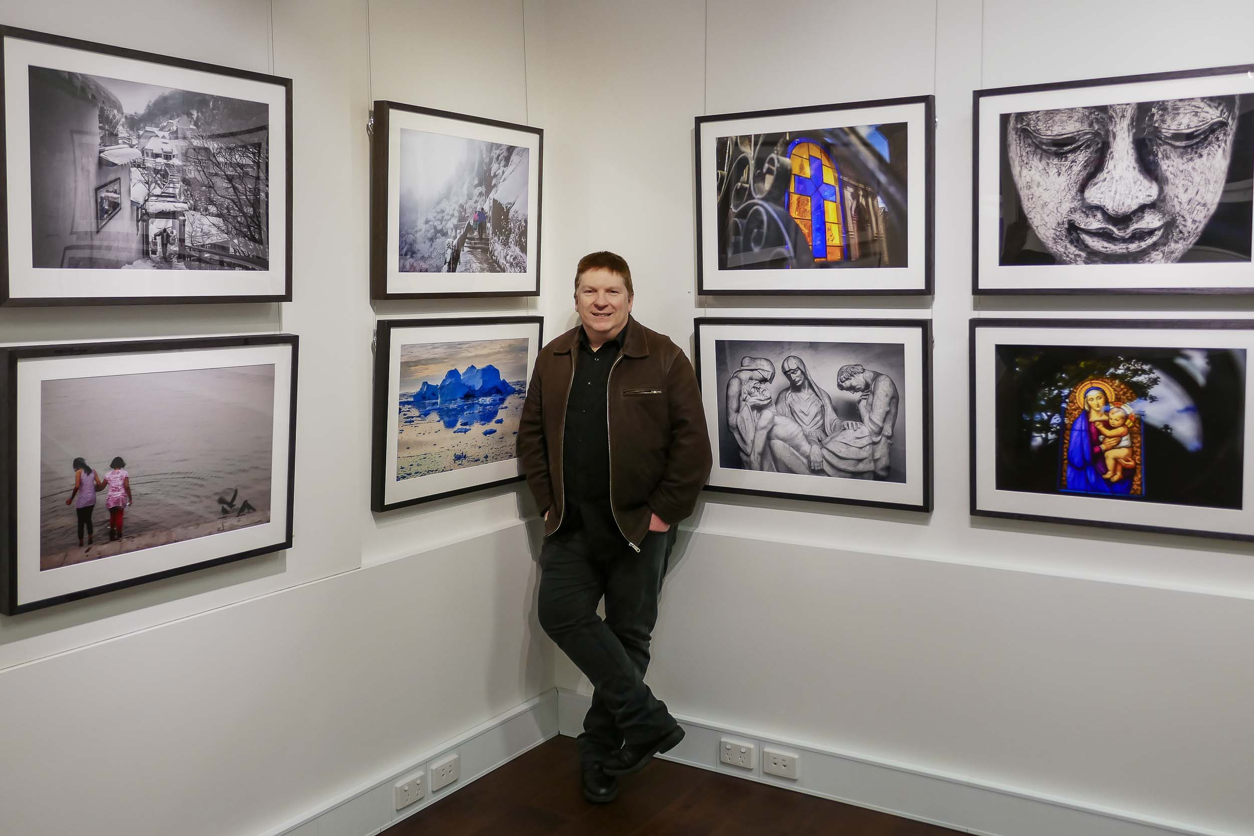 Glenn Guy   , the    Travel Photography Guru   , at his    Moments Of Transition    exhibition at    Quadrant Gallery    in    Melbourne, Australia   .