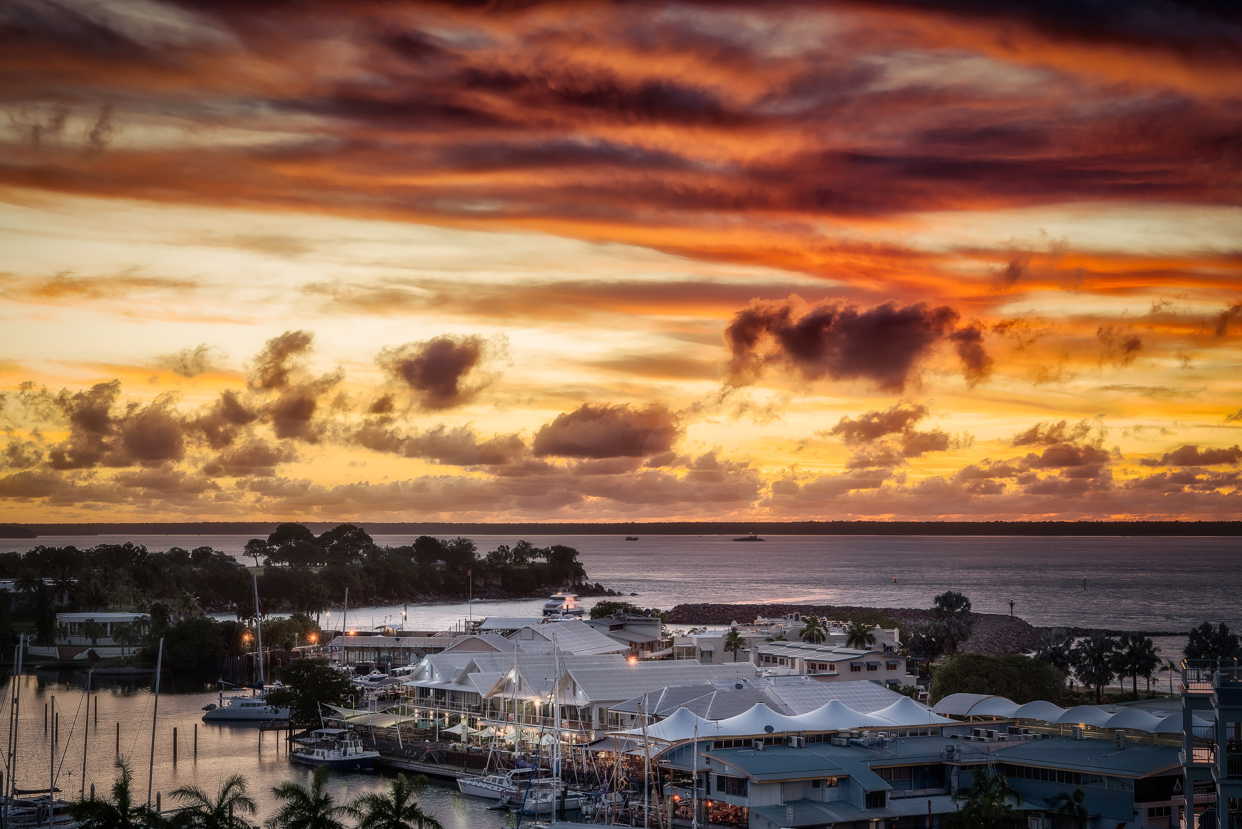 Sunset over Cullen Bay, Darwin
