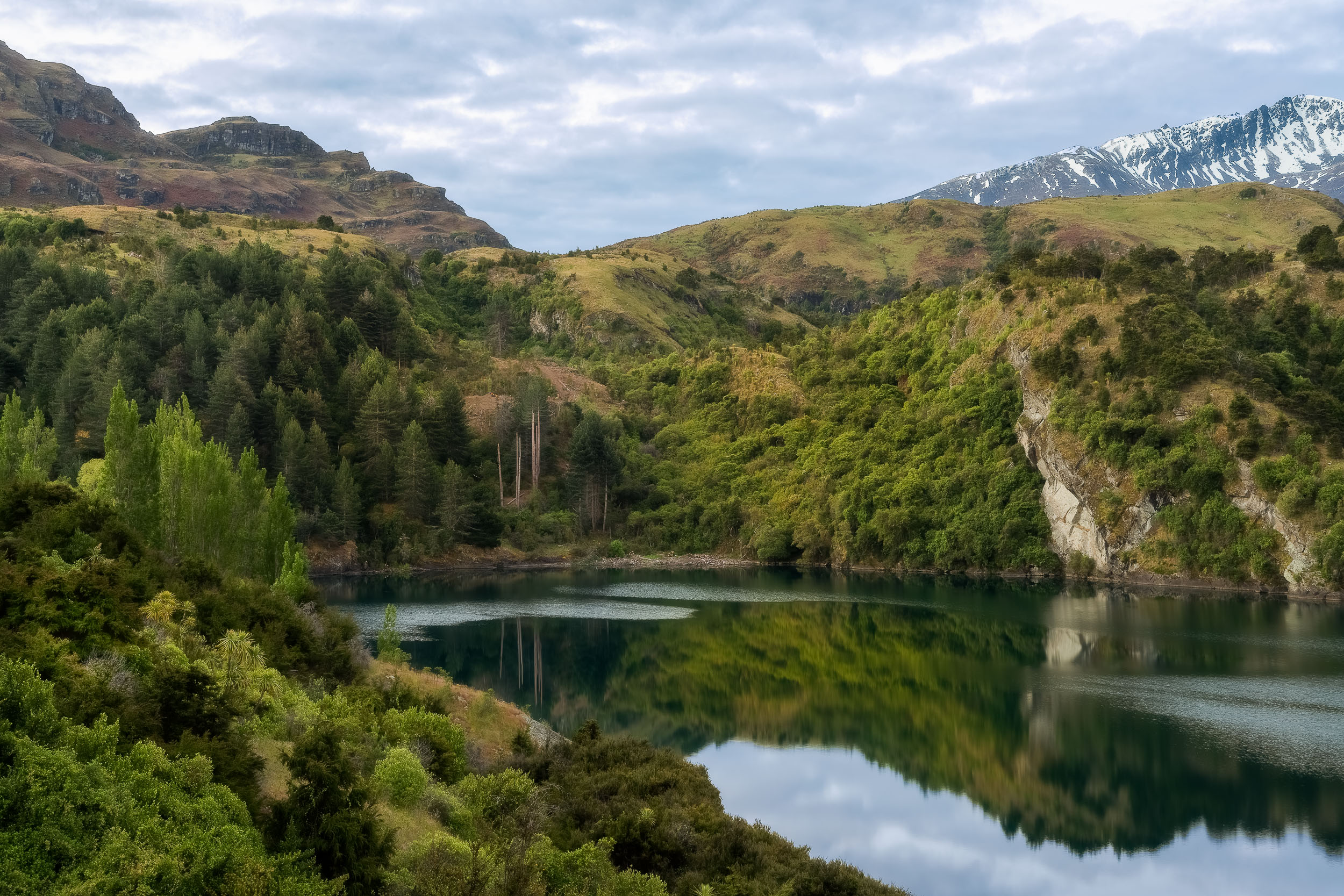 Waters edge near  Wanaka  in the south island of  New Zealand .