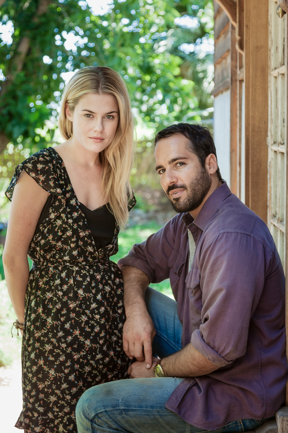 Rachel Taylor  and  Alex Dimitriades  photographed in the backyard of an historic house on the outskirts of  Mildura  during the filming of  Summer Coda .