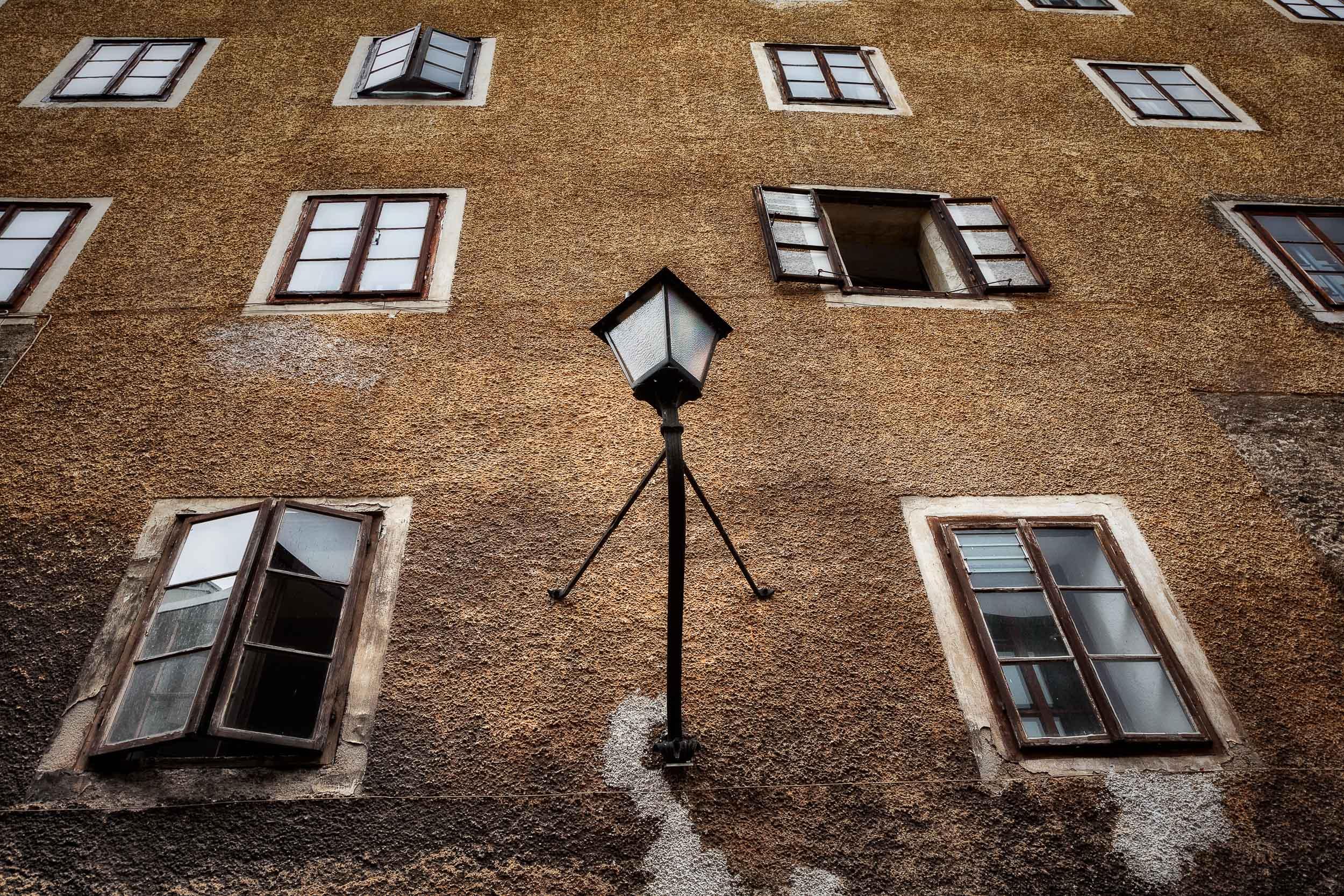 Windows and Lamp,  Salzburg, Austria