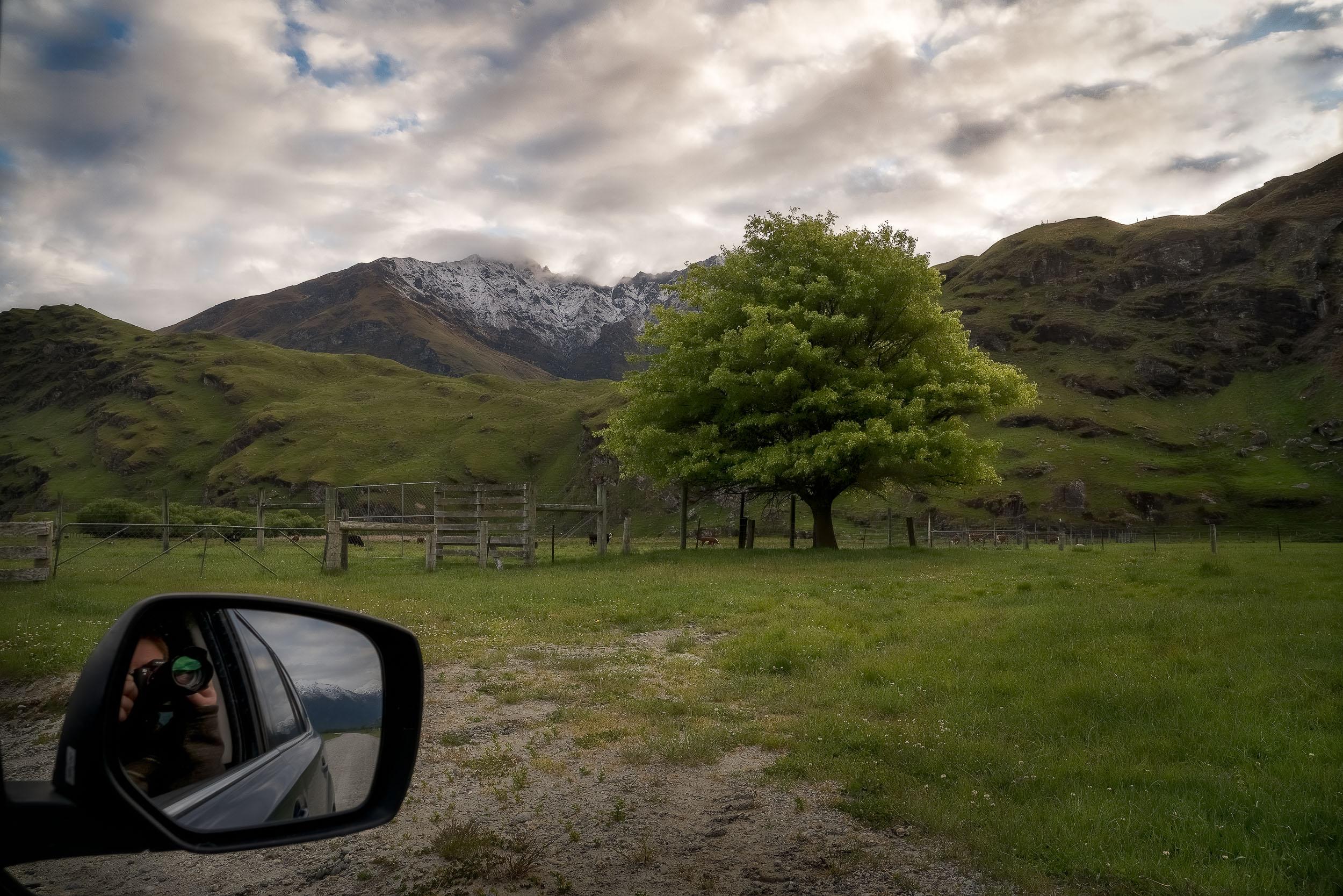 A    self portrait    of    Glenn Guy, the Travel Photography Guru   , on the    Mt Aspiring Road    near    Wanaka, New Zealand   .