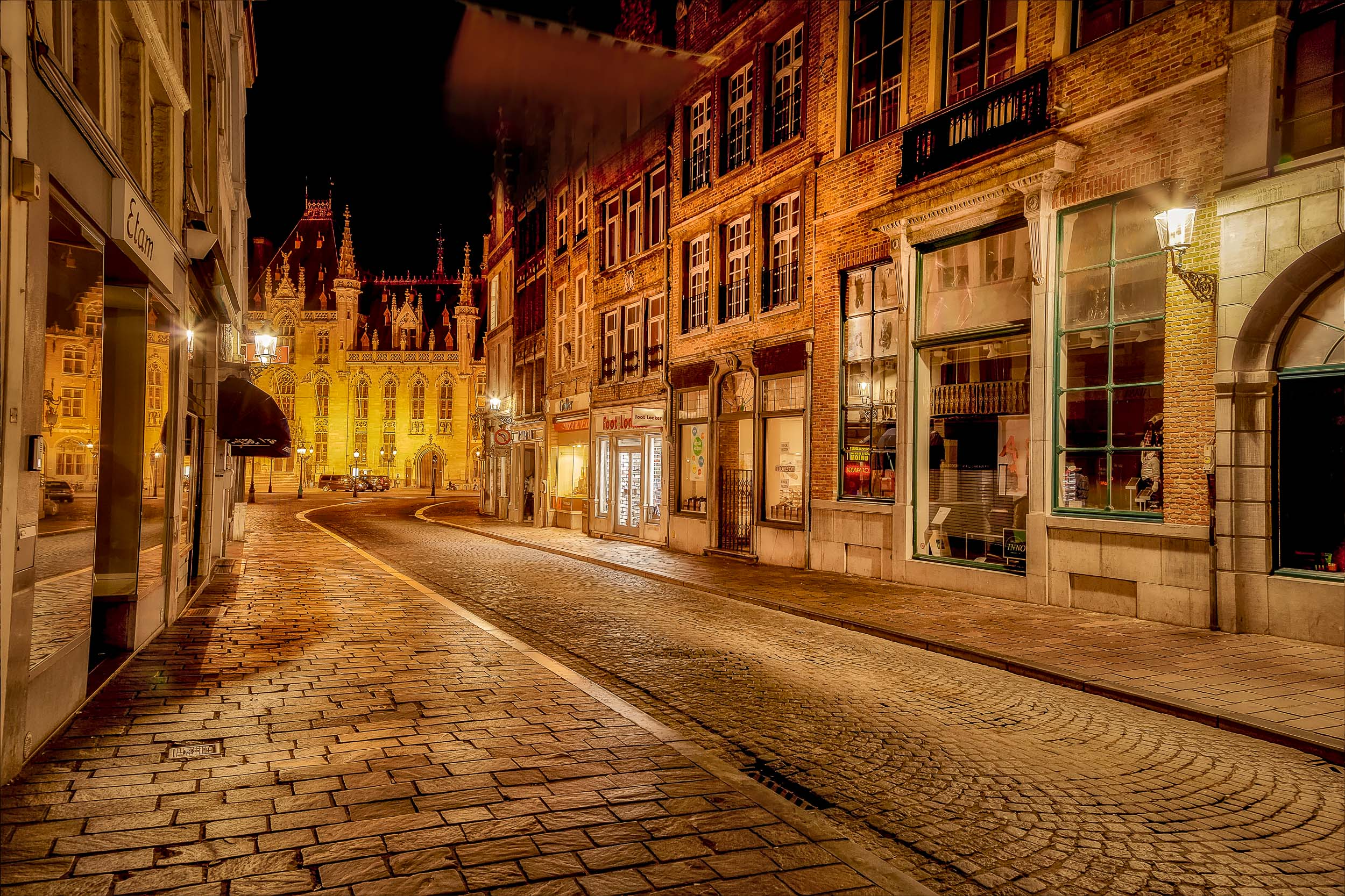 HDR workflow    used to record this cobbled street scene in    Bruges, Belgium   .