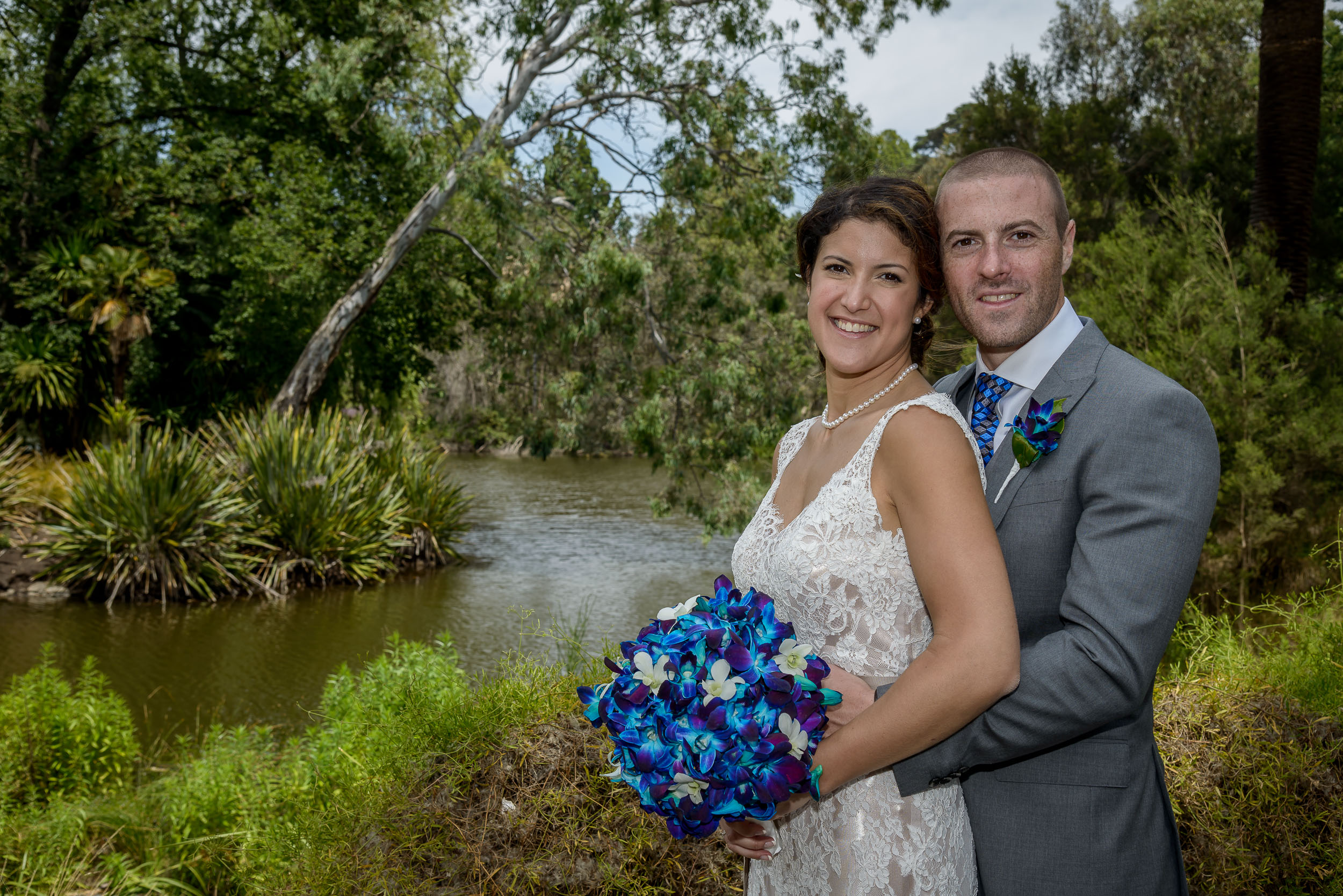 My friends    Orley and Alexander    photographed, on their    wedding day   , in the    Melbourne Botanical Gardens   .