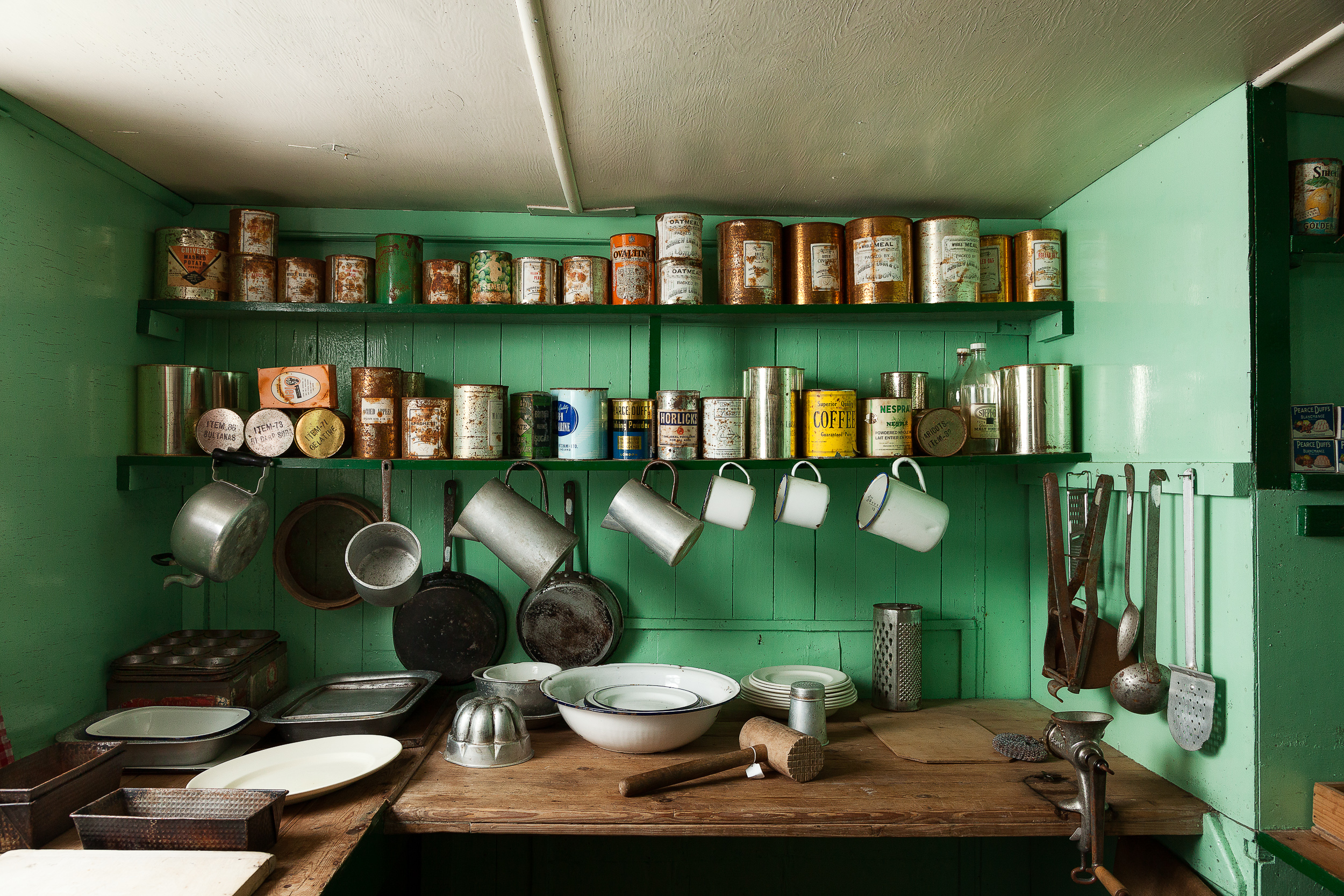 Kitchen    in the historic research centre at    Port Lockroy    in    Antarctica   .