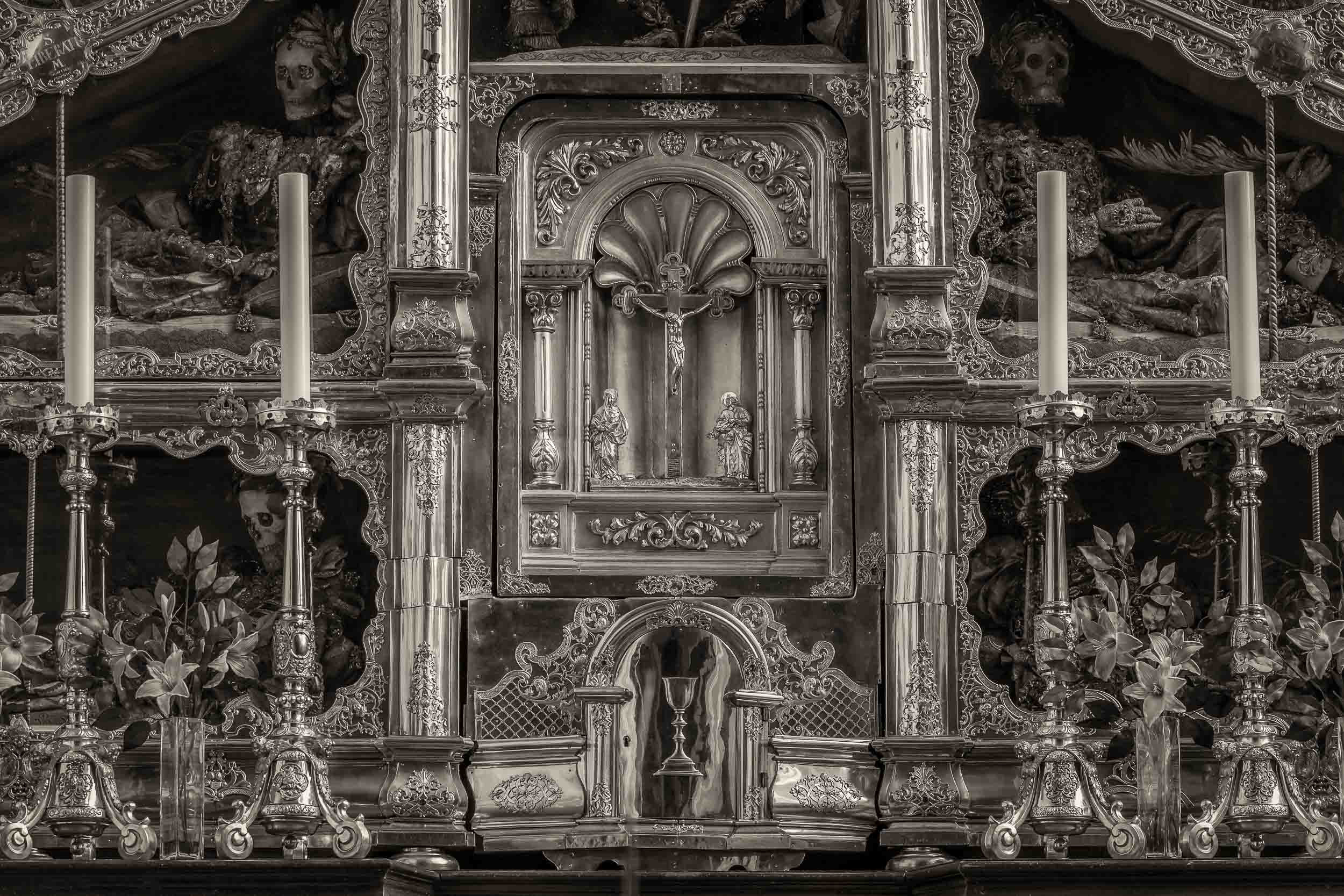A luminous photo of a  tabernacle  in the  Basilica St Michael  in the town of  Mondsee, Austria .