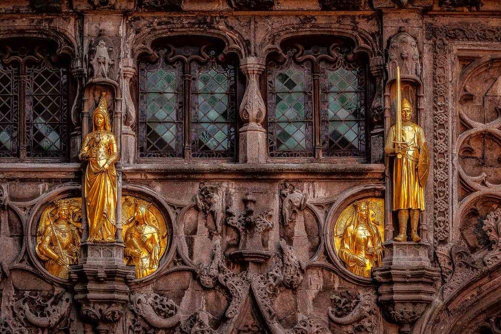 Statues, Bruges, Belgium