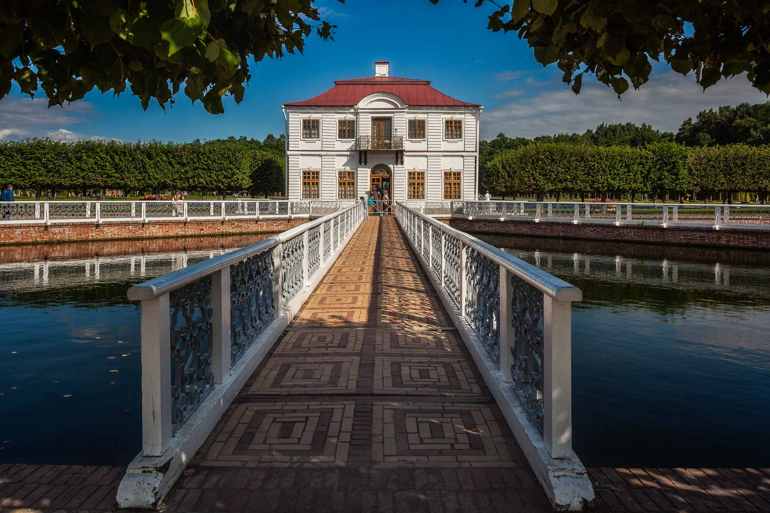 Marly Palace    was a lovely, quiet retreat for the former Tzar in the grounds of    Peterhof Summer Palace    near    St. Petersburg, Russia   .