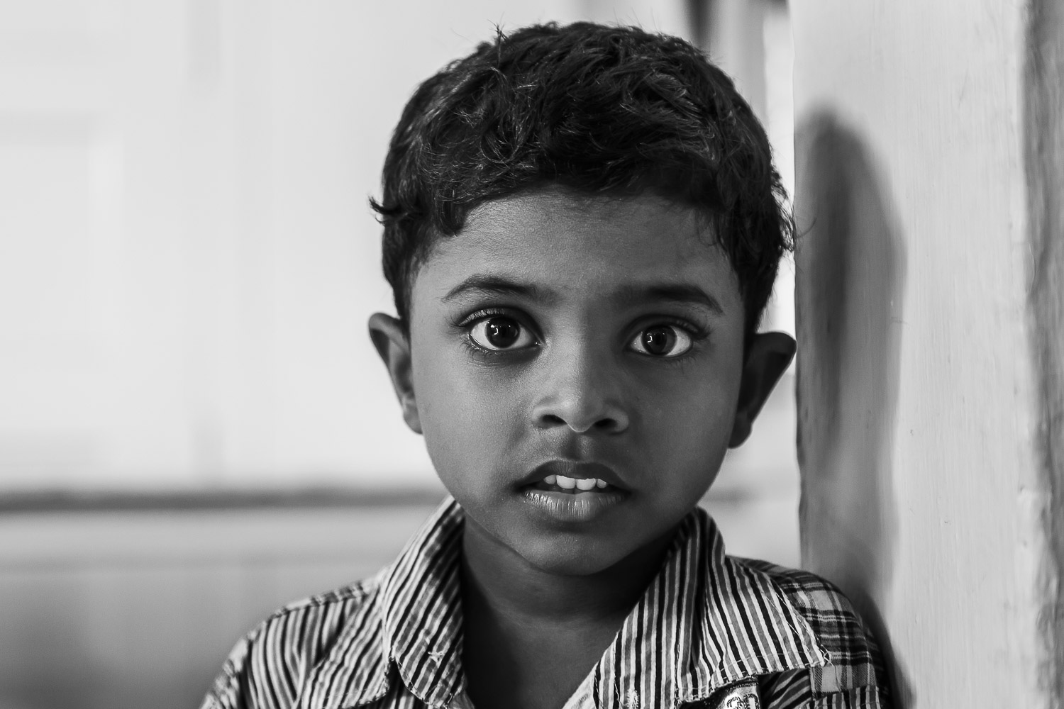 The face of innocence on St. Thomas Mount in Chennai, India.