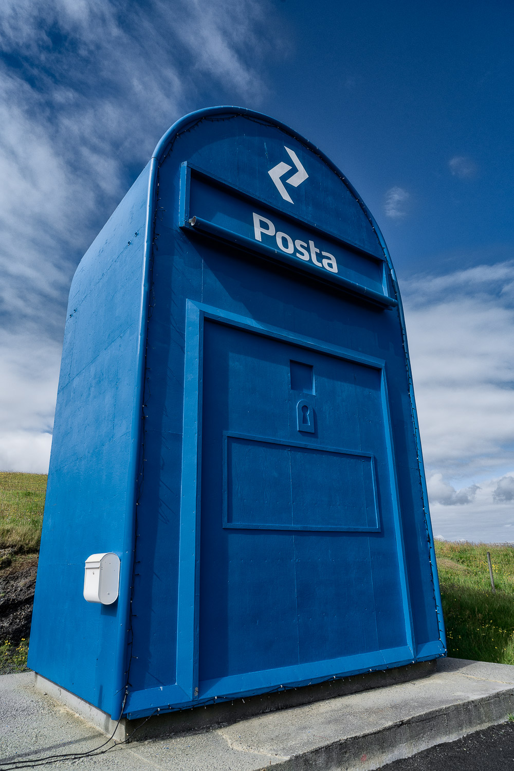 Possibly the    world's largest letterbox    in the town of    Skopun    on the island of    Sandoy    in the    Faroe Islands   .