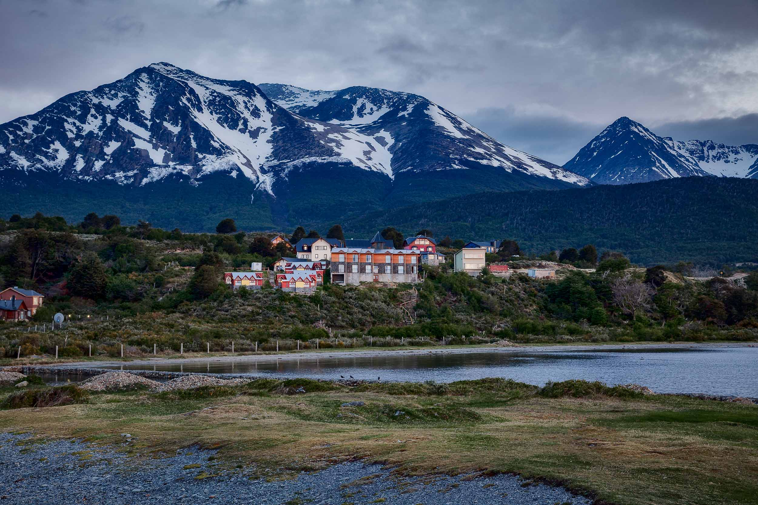 Early morning light at    De la Estancia    on the outskirts of    Ushuaia, Argentina   .