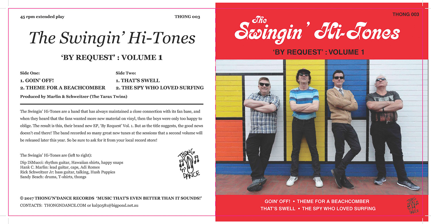 The cover for    The Swingin' Hi-Tones    'By Request' vinyl EP.